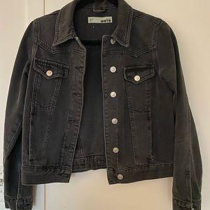 Topshop denim jacket washed black